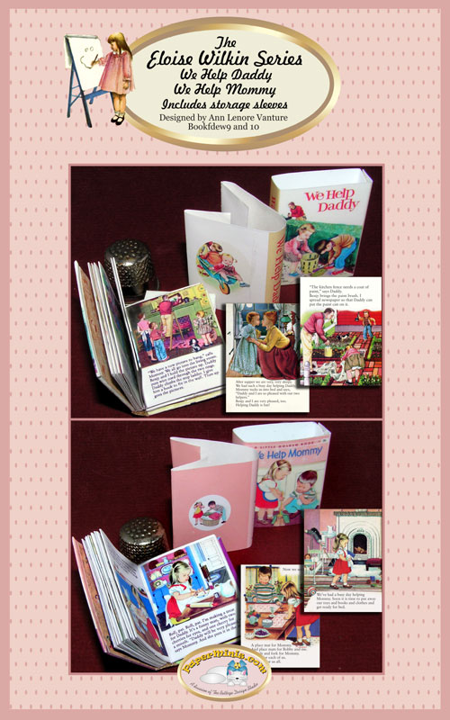 eloise Wilkin 1:6 scale children's books set 5